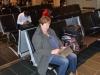 Astrid am Flughafen Boston