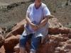 Astrid am Delicate Arch Trail, Arches N.P., Utah