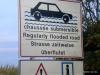 Warnschild an der Passage du Gois nach Noirmoutier