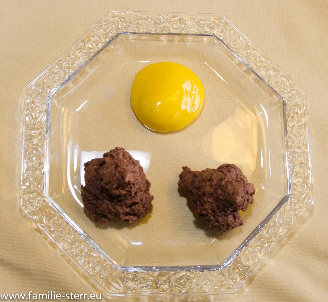 Dessertteller / Mousse au chocolat und Mango - Espuma