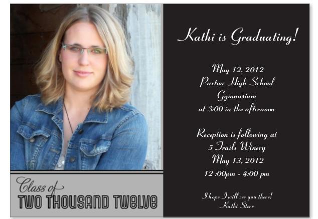 Katharinas Einladung zur Graduation - Feier