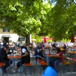 Biergarten beim Forsthaus Hubertus im Ebersberger Forst