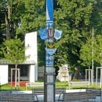 der abgesägte Maibaum auf dem Hofmarkplatz in Altenerding