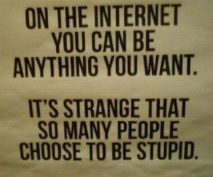 "Plakat ""on the internet you can by anything you want"""