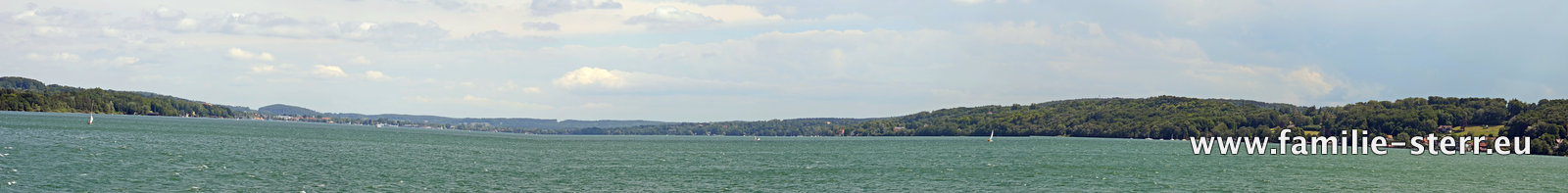 Panoramaaufnahme vom Starnberger See