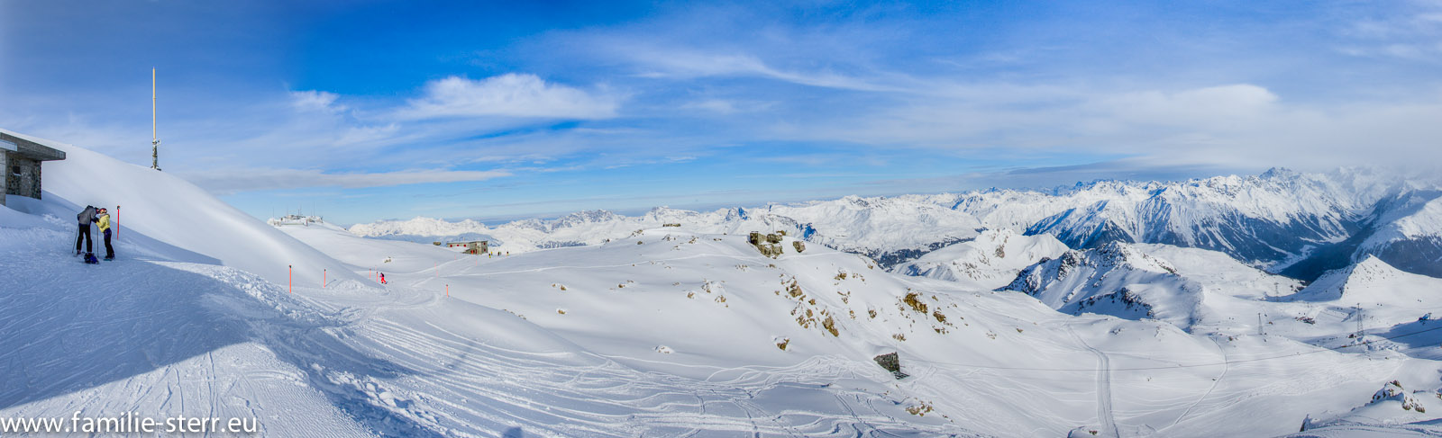 Weissfluh - Gipfel - Panorama NordWest - Nord - NordOst