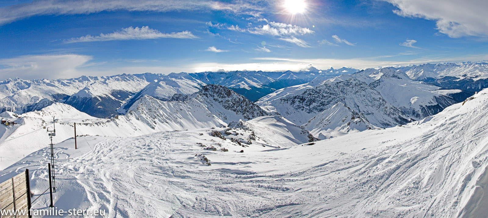 Weissfluh - Gipfel / Panorama SüdOst - Süd - SüdWest