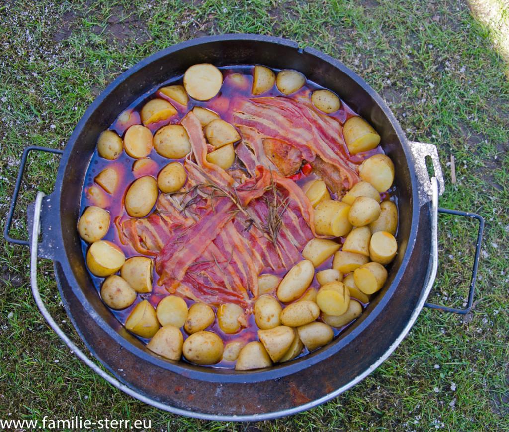 Schichtfleisch im Dutch Oven