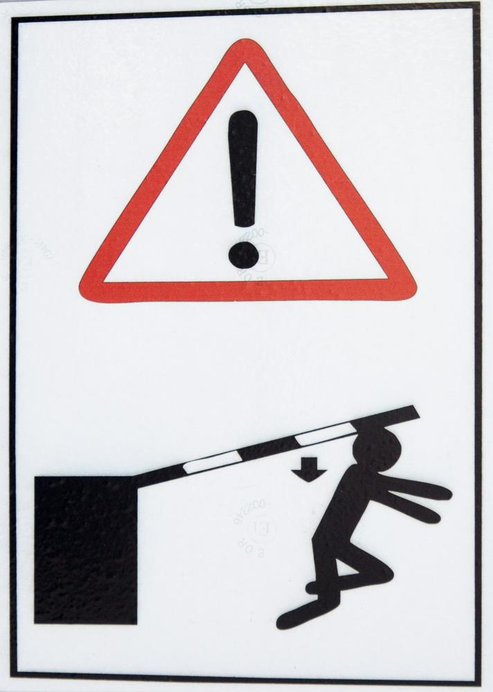 Warnschild Schranke
