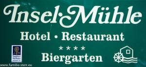 """Schild """"Insel - Mühle"""""""