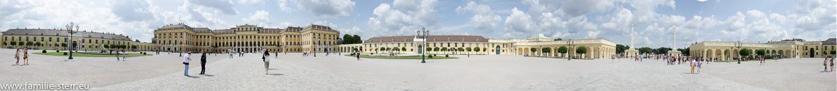 Schloss Schönbrunn Wien - Schlosshof - Panoramaaufnahme 360°