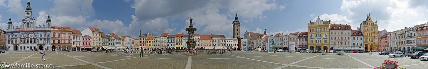 Otakar II. Platz in Budweis / Panorama