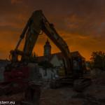 abendliche Lichtstimmung - Baustelle in Altenerding
