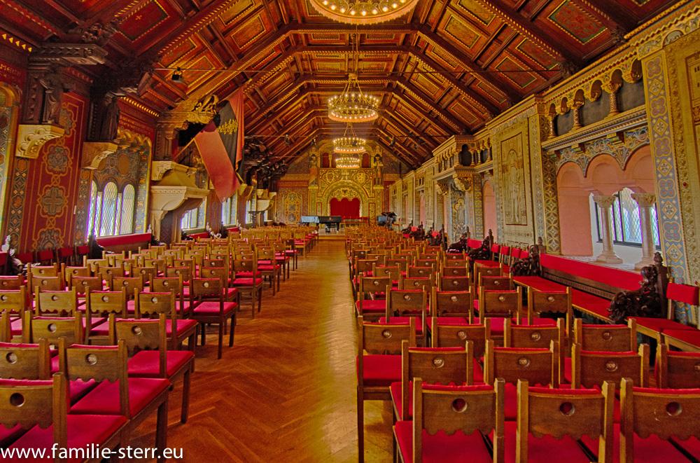 Saal der Wartburg in Eisenach