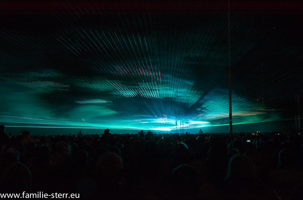 Lasershow bei den Pyrogames in Erfurt 2013