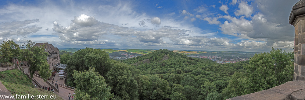 Panorama von der Wartburg aus