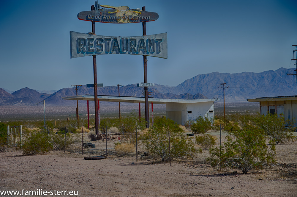 Restaurant in Amboy an der Route 66