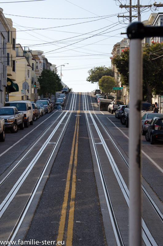 Cable Car Strecke in San Francisco