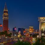 Las Vegas Strip bei Sonnenaufgang
