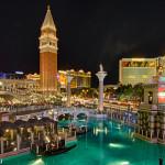 Las Vegas Strip vom Venetian aus aufgenommen