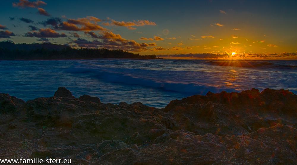 Sonnenuntergang Turtle Bay / Oahu