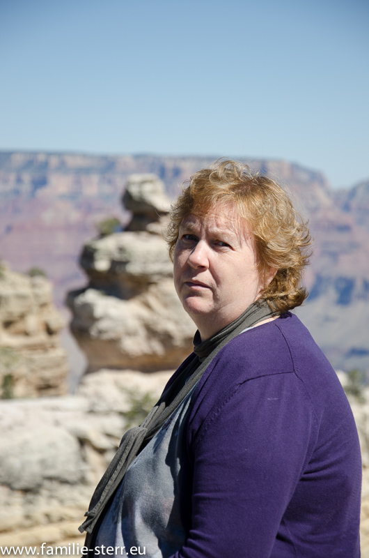 Astrid am Grand Canyon