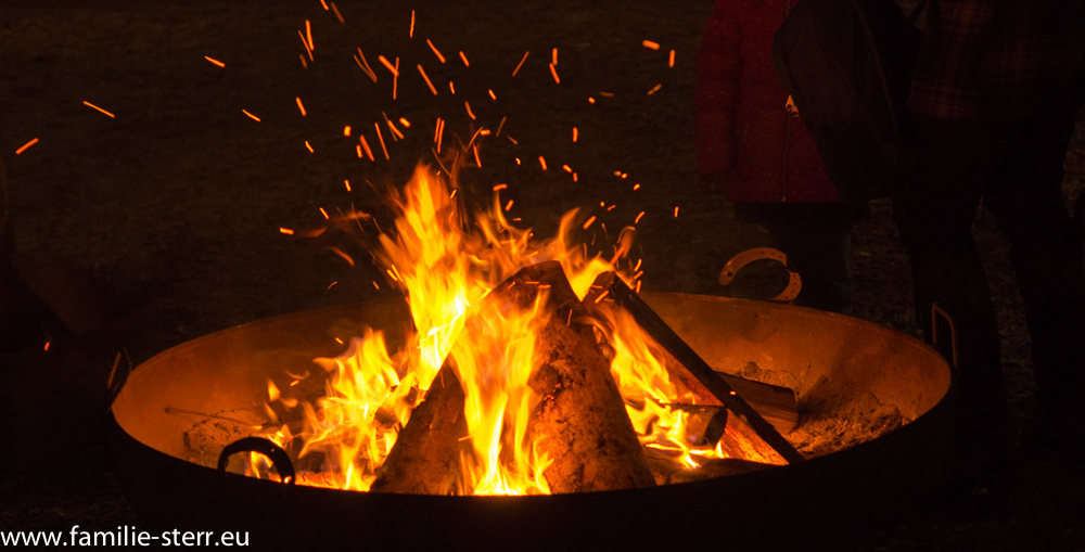Feuerschale am Weihnachtsmarkt in Dornbirn