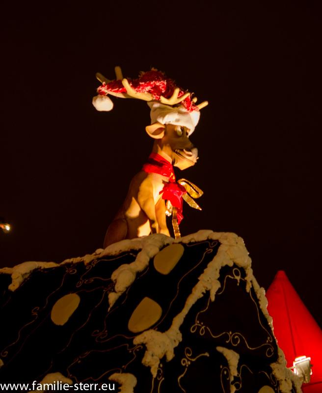 Rudolph / Deko auf dem Weihnachtsmarkt in Dornbirn