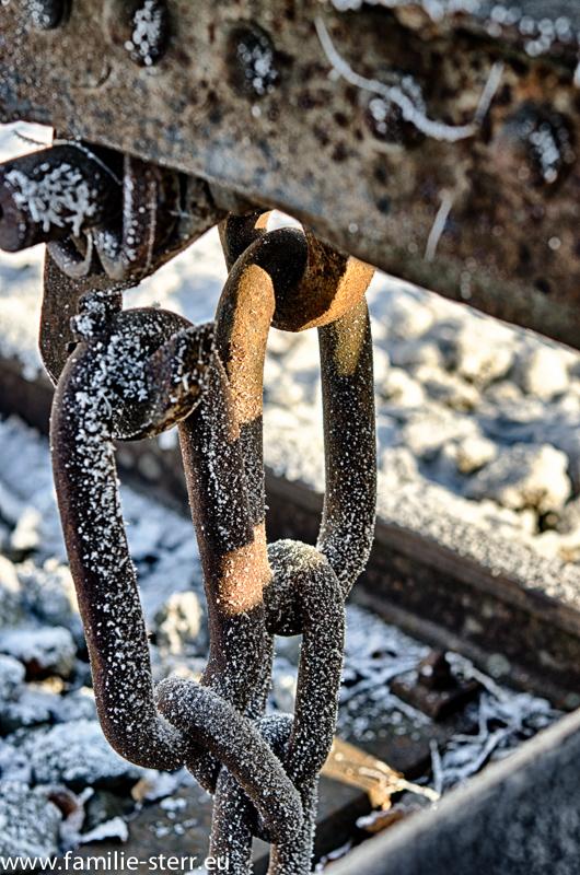 Lustenau / Eisenbahnwaggons im Winter