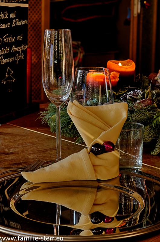 Tischdekoration am Heiligen Abend 2013
