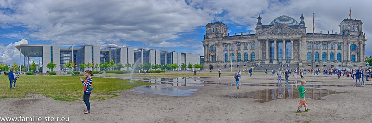 Reichstagsgebäude und Paul Löbe Haus