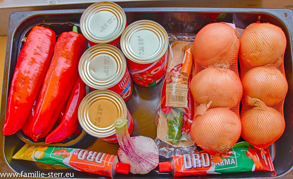 Zutaten für Gulasch aus dem Dutch Oven