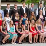 Klassenfoto W12c bei der Abschlussfeier 2014