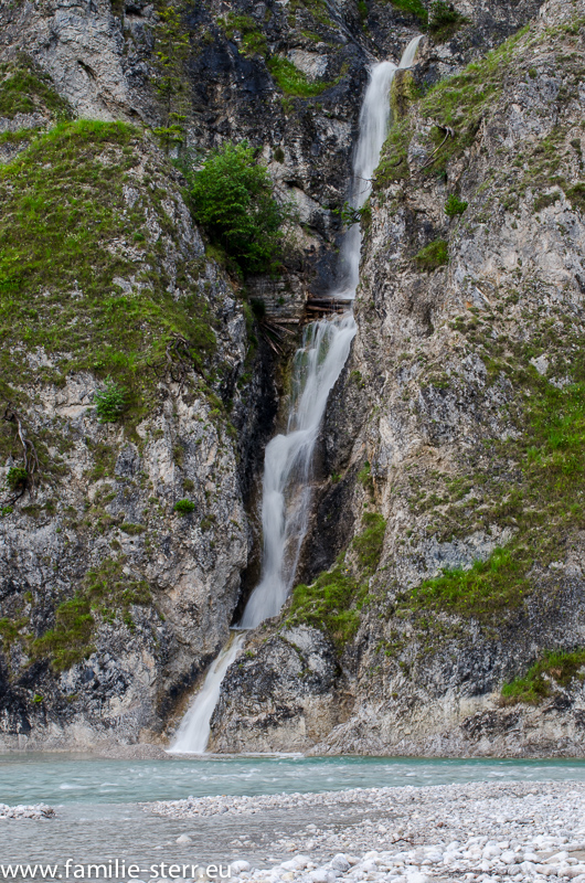 Wasserfall an der Oberen Isar bei Vorderriss