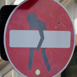 "Straßenschild ""Straße wegen Bauarbeiten gesperrt"""