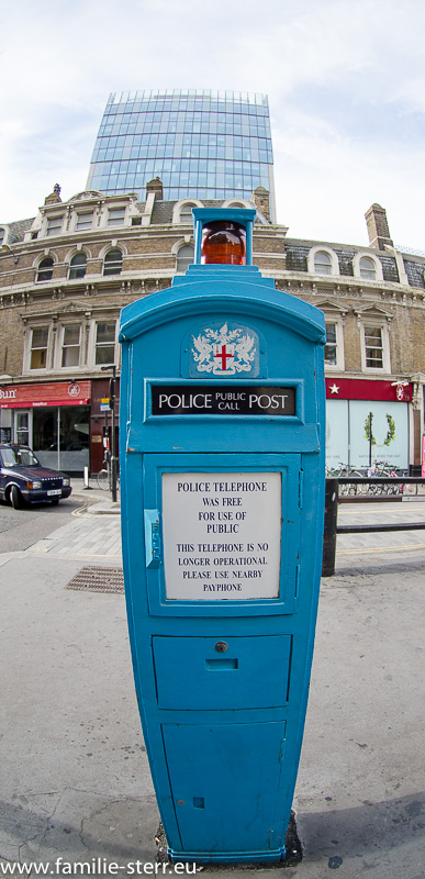 Police Phone in London - Liverpool - Street