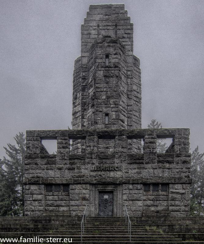 Der Bismarckturm in Hof bei Nebel