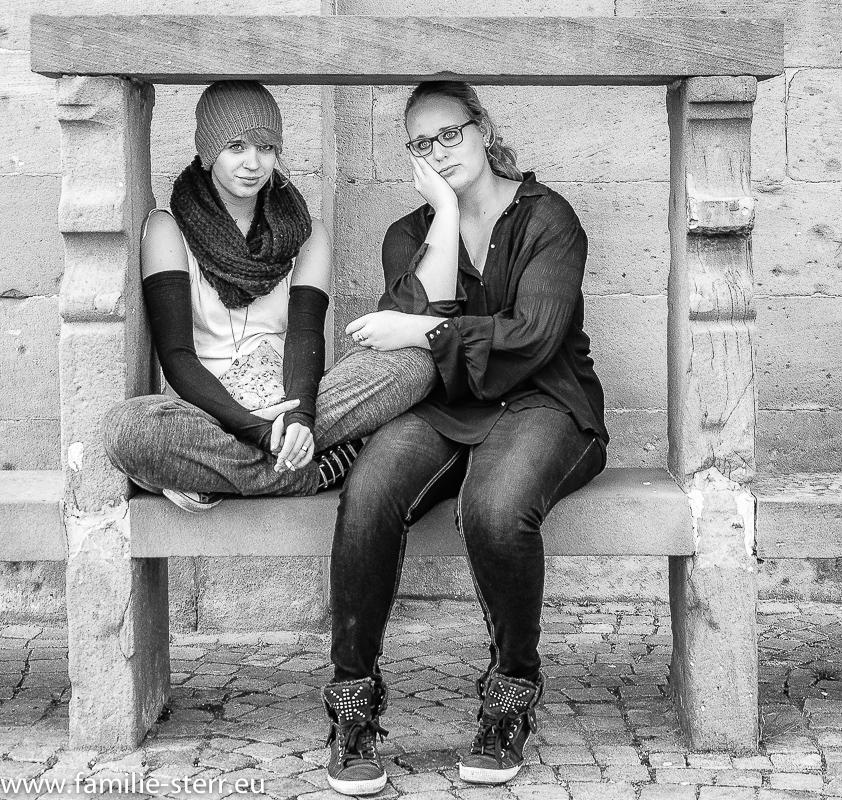 Melanie und Katharina in Riquewihr