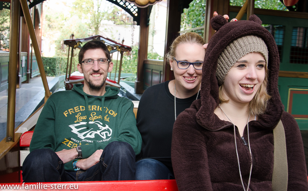 Mario, Katharina und Melanie im Europapark