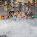 Mario, Katharina und Melanie im Poseidon im Europapark