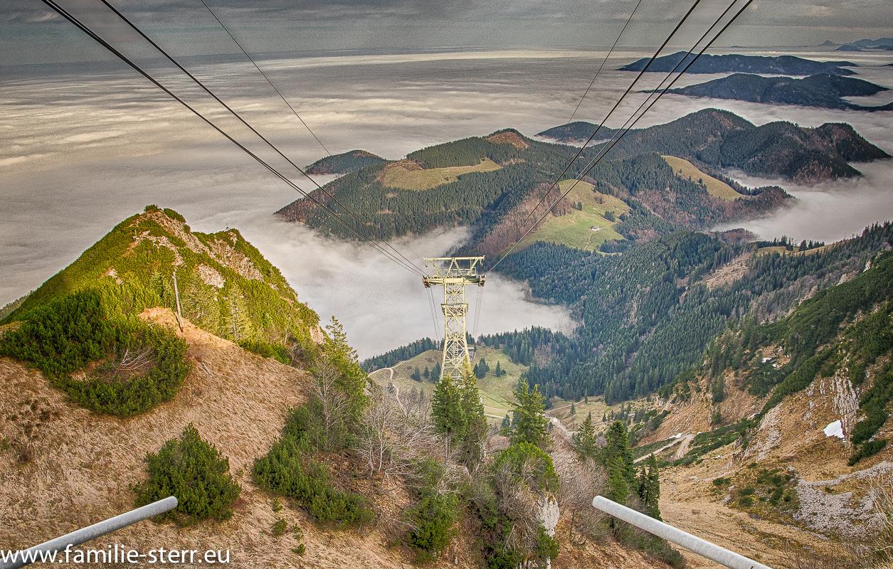 Hochfelln - Seilbahn im Nebel