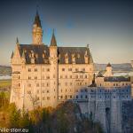 Schloss Neuschwanstein von der Marinebrücke aus