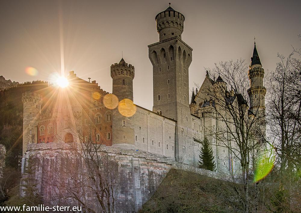 Schloss Neuschwanstein vom Wartebereich aus