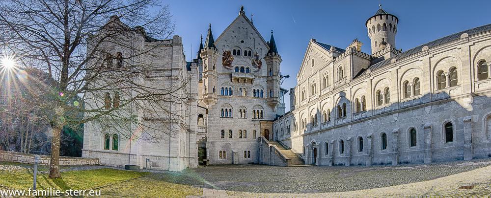 Der obere Hof im Schloss Neuschwanstein