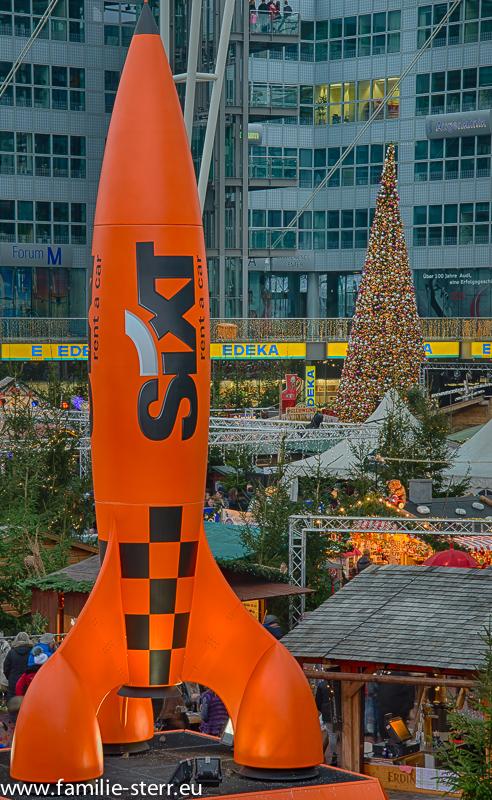 Werbung am Wintermarkt 2014 im Airport Center am Flughafen München