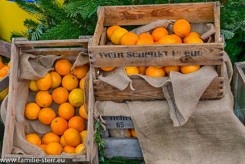 Orangen am Wintermarkt 2014 im Airport Center am Flughafen München
