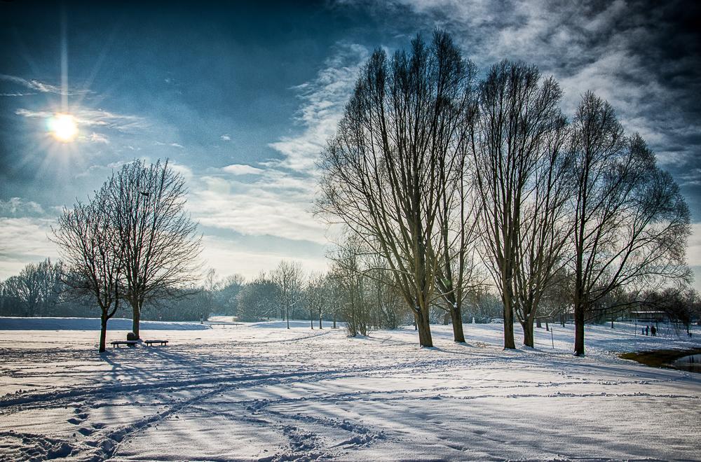 Erding im Winter - Kronthaler Weiher