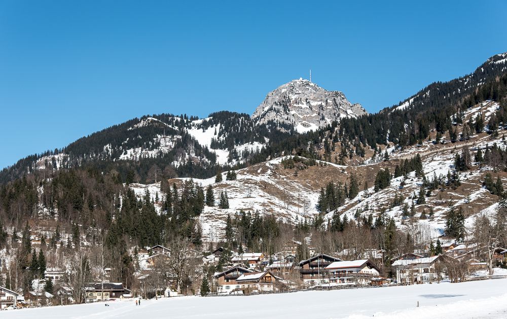 Blick von Bayrischzell auf den Wendelstein / Winter 2015