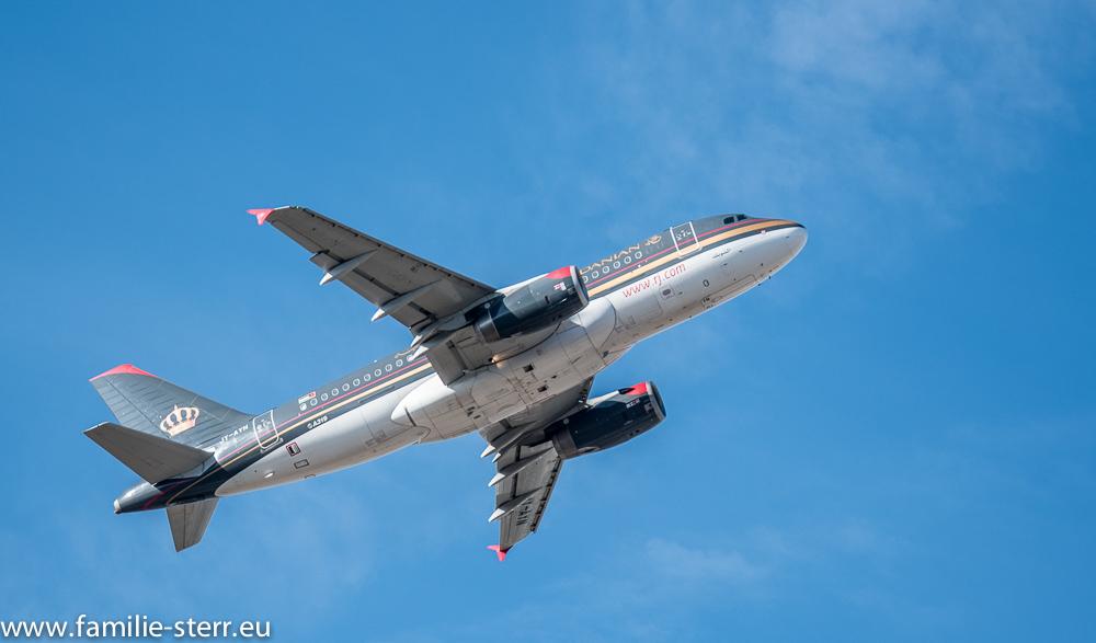 Airbus A319 der Royal Jordanian am Flughafen München