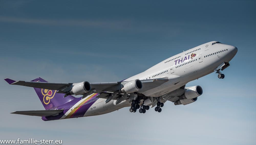 Boeing 747-400 der Thai Airways am Flughafen München